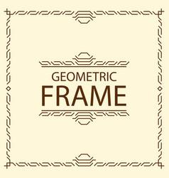 Frame geometric line style vector
