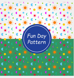fun day pattern background and texture vector image