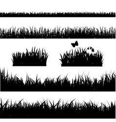 Grass border set vector