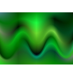 Green abstract wave background design vector image