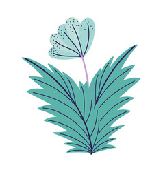 Green flower leaves foliage decoration nature vector