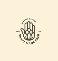 hand and hop logo vector image