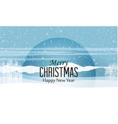 happy christmas greeting card vector image