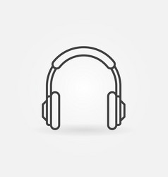 headphones outline simple icon headphone vector image