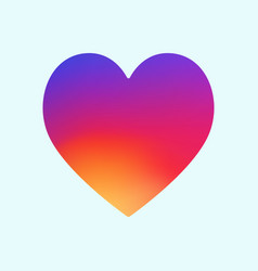heart symbol app icon with smooth color gradient b vector image