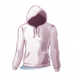Isolated hoodies vector