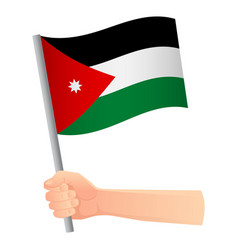 Jordan flag in hand vector