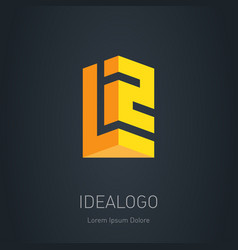 L2 initial 3d logo design element or 3d icon l vector