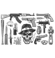 mafia and gangsters set vector image