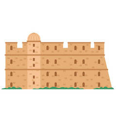 Medieval fortress with towers old city in greece vector