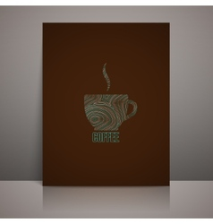 menu design with coffee sign vector image vector image