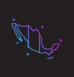 mexico map icon design vector image