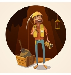 Mining concept vector image