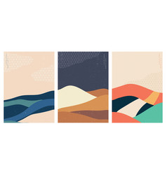 natural landscape background with geometric vector image