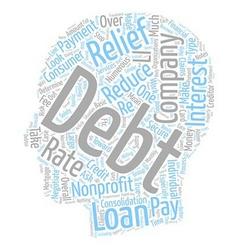 Nonprofit debt relief companies text background vector