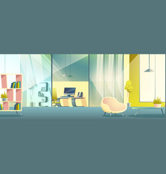 Office working cabinet cartoon interior vector