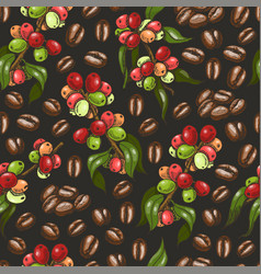 Pattern with coffee vector