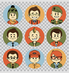 People avatars collectionprofessions flat icons vector