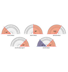 Protractor - protractor actual size graduation iso vector