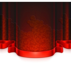 Red vintage background vector image