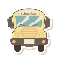School bus transport isolated icon vector