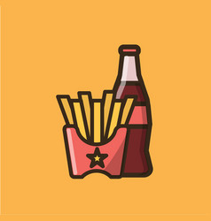 Soda soft drink iand french fries vector