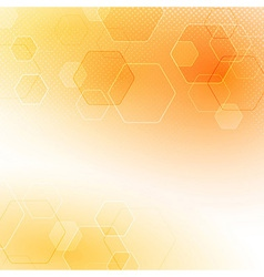 Solar abstract hexagon background vector