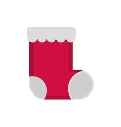 stocking decoration happy christmas icon vector image