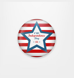 Stylish american independence day design badge vector