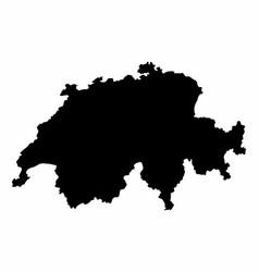 switzerland silhouette map vector image