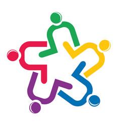 teamwork charitable people icon vector image