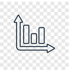 three bars graph concept linear icon isolated on vector image