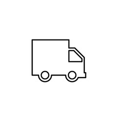 truck line icon delivery van service concept vector image