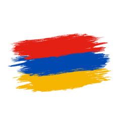 vintage armenia flag vector image