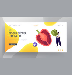 vitamins in vegetable products website landing vector image
