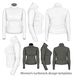 Womens turtleneck design templates vector image
