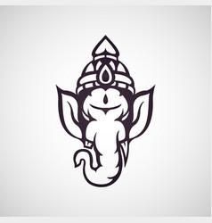 ganesha icon vector image