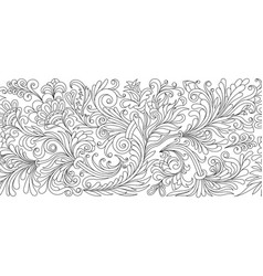 ornate seamless border in eastern style vector image vector image