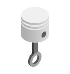 Piston isometric 3d icon vector image
