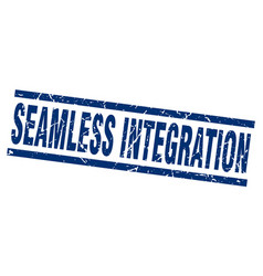 Square grunge blue seamless integration stamp vector