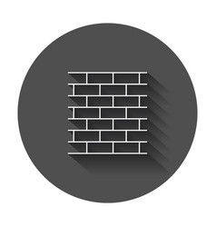 Wall brick icon in line style wall symbol with vector