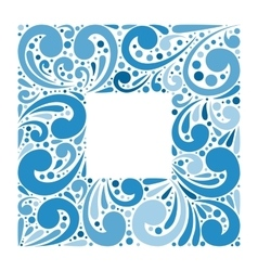 Abstract ornate frame for background vector image vector image