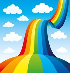 Beautiful rainbow in the sky vector
