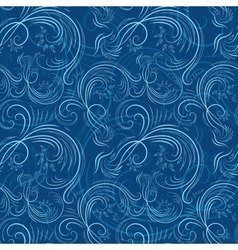 Blue christmas pattern with ice vector image