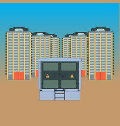 electricity in the new district vector image