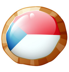 flag icon design for czech republic vector image vector image