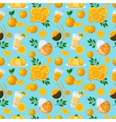 Juicy fruits and berries seamless pattern vector image