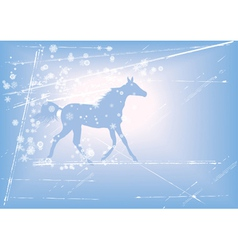 New Year background with horse vector image vector image