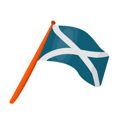 scotland flag on a wooden stickthe scottish vector image vector image