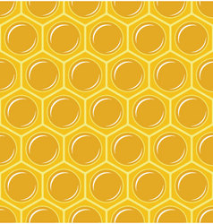 Seamless honeycomb pattern vector image vector image